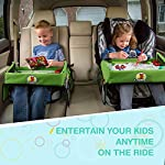 Snack & Play Travel Tray with Dry Erase Top 40x32 cm, Lenbest Premium Child Play Tray for Car, Stroller, Plane (Bonus Educational Drawing Paper Set) 5