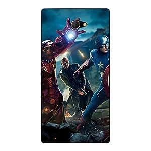 Jugaaduu Superheroes Ironman Back Cover Case For Sony Xperia M2