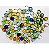 Day Glass Decorative Pebbles/Stones Colourful Marbles/Gemstones Vase Fillers For Home Decoration, Garden And Glass Pebbles For Fish Tank Substrate (150g, Multi)
