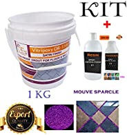 T-Lite Epoxy Wall Paint, Tile Wall Coating (Stain Proof Sparkle Grout For Floor & Wall) (Sparkal with Mouve)