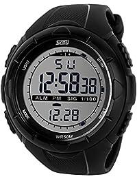 skmei 5ATM Montre-bracelet etanche a la mode pour homme Chronographe  chronometre numerique LCD Casual 64502ffe7c1