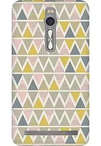 AMEZ designer printed 3d premium high quality back case cover for Asus Zenfone 2 (zig zag shape pattern)