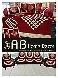 Ab Home Decor Diamond Design Maroon diwan set and sofa cover set combo