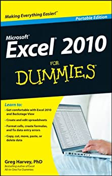 Excel 2010 For Dummies by [Harvey, Greg]