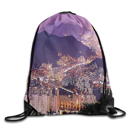 Urban Skyline of Busan South Korea Modern Cityscape with Night Light Buildings Hills Running Backpack Sport Bag