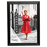 BARNES A4 (21x30cm) Classic Black Mid Sheen Finish Non Glass Freestanding and Wall Mountable Certificate Photo Display Frame Manufactured By Hampton Frames.