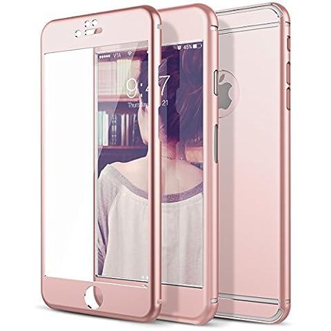 iPhone 6 Plus Screen Protector, Étui Coque de Protection iPhone 6S Plus, CE-Link Avant et Arriere Métal Protecteur D'écran en Verre Trempé Pour Apple iPhone 6 Plus 6S Plus 5.5