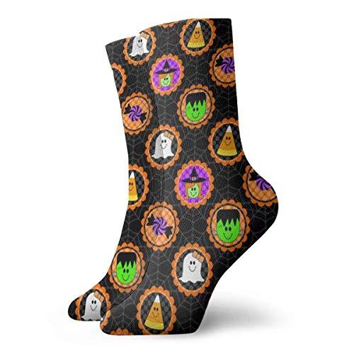 Zhengzho Süße Halloween-Freunde Socken Atmungsaktive Damen Herren bedruckte Baumwolle Flachstrick Crew Sport Athletic Socken 30cm