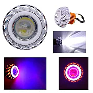 Autofier LED headlight Supper White Lens projector With Dabble Audi tube Ringlight For Hero HF Deluxe