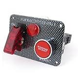 sourcingmap® Kohle Fiber rasend Engine Start Druck Knopf Zündung Schalter für Auto PKW