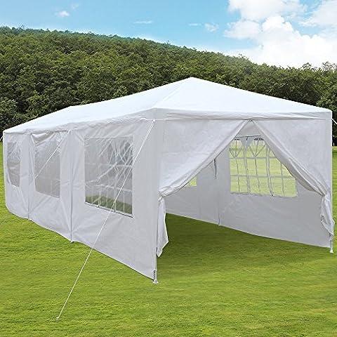 tinkertonk Pavillon 10'x30'/3 m x 9m Partyzelt für die Hochzeit / Outdoor Terrasse, Zelt, robuster Himmel Heavy Duty Pavillon, Pavilion für Events, mit abnehmbaren Seitenwändenangen, weiß