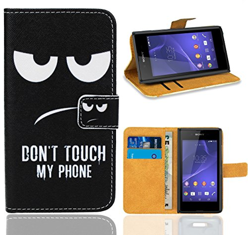 Sony Xperia E3 Handy Tasche, FoneExpert Wallet Case Flip Cover Hüllen Etui Ledertasche Lederhülle Premium Schutzhülle für Sony Xperia E3