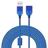 Noodei Elektronisches Ladekabel USB 2.0 Verlängerungskabel, USB A Stecker auf Buchse Extender für Gamepad, Flash Drive, Maus, Tastatur, Drucker, Scanner, Kartenleser (Size : 5m)