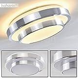 LED Bad Decken-Leuchte mit warmweißem Licht aus Aluminium – Badezimmerlampe