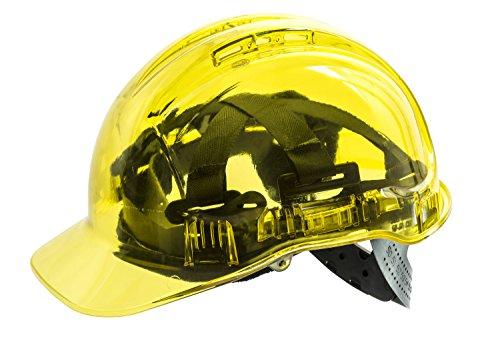 Workwear World WW336ventilato vedere attraverso traslucido Workwear casco di protezione (giallo)