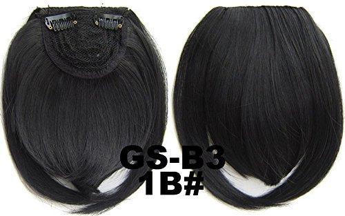 # 1B 100% fibre synthétique haute température Clip dans/sur cheveux avant frange frange cheveux