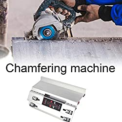 boastvi Tile Chamfering Machine Stone Cutting, 45 Degree Angle Chamfer Cutting Machine Guide Angle Multifunctional Accessories Manual Marble Angle Cutting Machine Silver