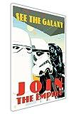 Pop Art Leinwand Bilder Star Wars Zitat Join The Empire Krieg Poster Wall Art Prints Raum Dekor, canvas, 02- A3 - 16