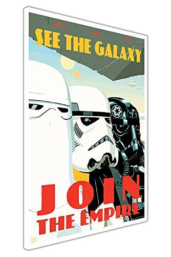"""Pop Art Leinwand Bilder Star Wars Zitat Join The Empire Krieg Poster Wall Art Prints Raum Dekor, canvas, 02- A3 - 16\"""" X 12\"""" (40CM X 30CM)"""