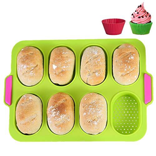 KeepingcooX® Mini-Baguette-Backblech, 34 x 24 cm, Antihaft-Lochblech | Brot Crisping Tray, Laib Backform, perfekt backt French-Bread, Breadstick und Brötchen mit köstlichen knusprigen Krusten