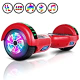 Huanhui Hoverboard 6.5', Smart Self Balance LED Overboard, Potente batería de Litio 2 * 300W, Self-Balancing Scooter, Certificado UL2272