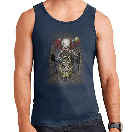 We All Float Down Here It Pennywise Men's Vest Navy Blue
