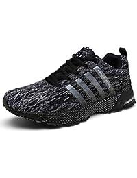 ca8267fefa SOLLOMENSI Laufschuhe Retwin Turnschuhe Straßenlaufschuhe Sneaker mit Snake  Optik Damen Herren…