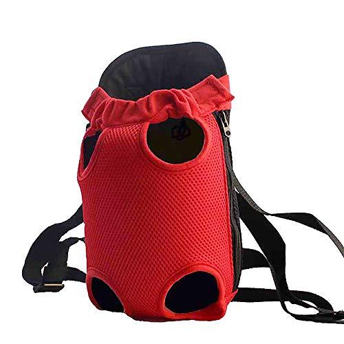 Lvcky Respirant en Maille Filet pour Animal Domestique Chien Sac de Transport Sac à Dos épaule Chats Chiens de Petite Taille Sacs de Voyage(Reds)