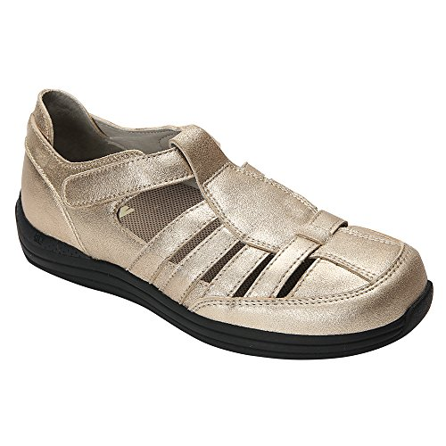 Drew Shoe - Ginger donna Dusty Gold Leather