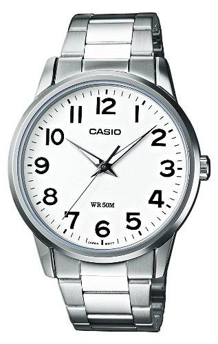 CASIO Collection MTP-1303D-7BVEF - Reloj de caballero de cuarzo, correa de acero inoxidable color varios colores (con luz)
