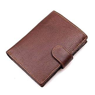 51cpLX77oOL. SS324  - TIDING Cartera de cuero de gamuza vintage Multi-card Billetera corta para hombre Cartera casual de negocios