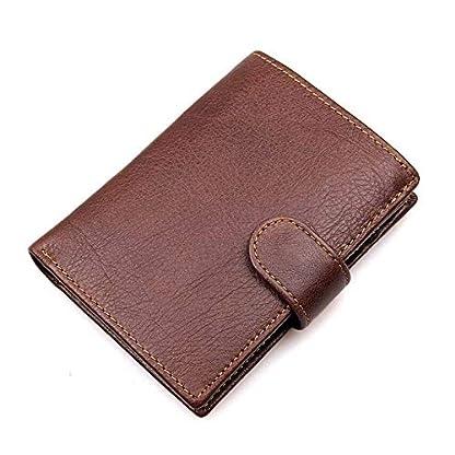 51cpLX77oOL. SS416  - TIDING Cartera de cuero de gamuza vintage Multi-card Billetera corta para hombre Cartera casual de negocios