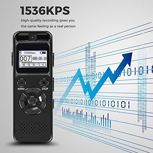 1536Kps High Definition Diktiergerät Digital Voice Recorder Registrar Audio Video Sound Mikrofon Stealthily Device Secret Player 8 GB A (Video-audio-recorder)