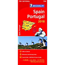Spain & Portugal 2018 - Michelin National Map 734 (Michelin National Maps)