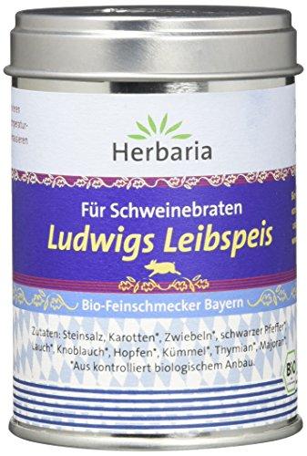"""Herbaria""""Ludwigs Leibspeis"""" Gewürzmischung für Schweinebraten Bio, 95 g Dose"""
