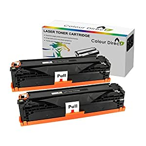 2 X Colour Direct Compatible Noir Cartouche Toner TN1050 Pour Brother DCP-1510 DCP-1512 DCP-1610W DCP-1612W HL-1110 HL-1112 HL-1210W HL-1212W MFC-1810 MFC-1910 MFC-1910W imprimeur