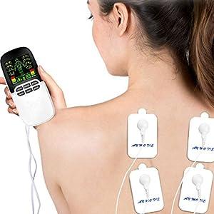 Tens stimulation, Elektrostimulationsgerät, Breett Dual-Port Massager Tension Unit, Muskel Stimulation Ganzer Körper, für Schmerzlinderung und Entspannung, Wiederaufladbare