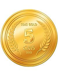 A Himanshu 5 gm, 24k (999) Yellow Gold Precious Coin