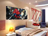 AG Design ftdh 0632Spider Man Marvel, carta foto carta da cameretta–202x 90cm–Parte 1, carta, multicolore, 0,1x 202x 90cm