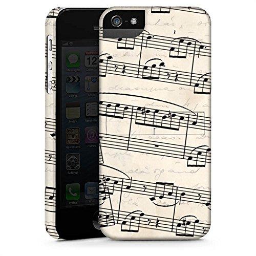 Apple iPhone 5s Housse étui coque protection Partitions de piano Motif Motif CasStandup blanc
