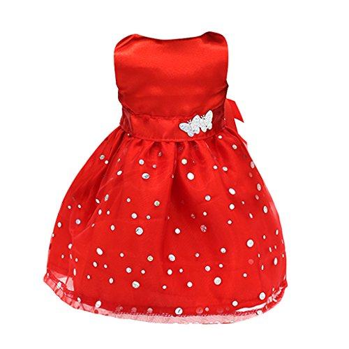 Red ärmel Kleid Für 18 '' American Girl Dolls