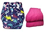 #10: Bottom Genius reusable pocket cloth diaper with 2 number microfiber inserts Dinosaurs