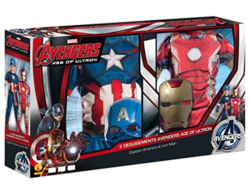 Imagen de marvel 155014m  disfraces para niños, avengers captain america iron man 2, talla m alternativa