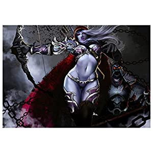 Poster Sylvanas Windrunner – Queen of the Forsaken World of Warcraft A3 (42×30 cm) A