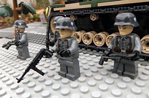 Modbrix 8819 – ✠ 2 Stück Custom Minifiguren Deutsche Wehrmacht Afrika Korps Soldaten aus original Lego® Teilen ✠ - 3