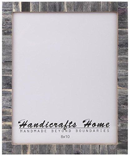 Handicrafts Home 8x10 Knochen Bilderrahmen Schick Fotorahmen Handgemacht Vintage grau, 20,3 x 25,4cm (Grau 8x10 Bilderrahmen)