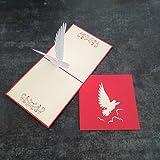 Weiß Taube 3D Pop up Grußkarte Anniversary Baby Happy Geburtstag Ostern Mutter Thank You Valentine 's Day Hochzeit Kirigami Papier Craft Postkarten