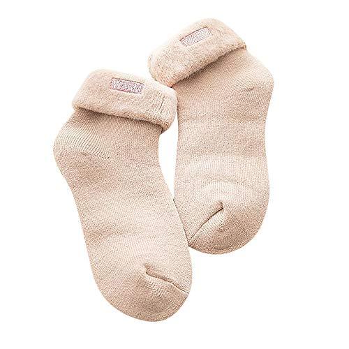 YWLINK Damen Winter KräUselte Dicke GebüRstet Buchstaben Stickerei Warm Socken Weihnachtsmode