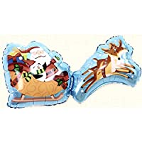 Party R Us Giant Santa Sleigh, Large Sleigh , Airwalk Foil Balloon (90cm or 35inch)