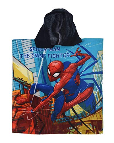 Spiderman Poncho baño Capucha Azul – Marvel –